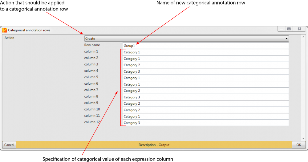 Perseus pop-up window: Annot. rows -> Categorical annotation rows